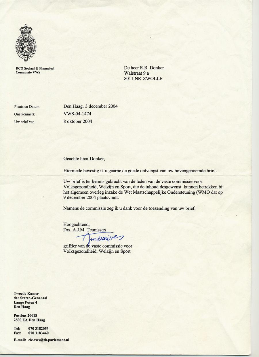 voorbeeldbrief annulering afspraak FW: mening Landelijke vereniging dak  en thuislozen over  voorbeeldbrief annulering afspraak